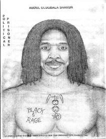 Political prisoner Abdul Olugbala Shakur, self portrait