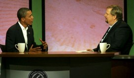 Rev. Rick Warren's hour-long interviews Aug. 17, first with Sen. Barack Obama and, afterward, with Sen. John McCain, drew huge television audiences. – Photo: Monica Ahneida, New York Times