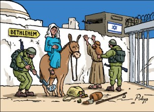 If Mary and Joseph were to make their way to Bethlehem this year, the only inn with a room for them would probably be an Israeli prison.