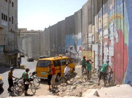 The Israeli separation – or apartheid – wall zigzags through Biblical Bethlehem.