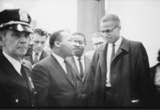 Martin Luther King and Malcolm X, both incomparable leaders, both assassinated - Photo: Trikosko, Library of Congress