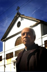 Rev. Jerome LeDoux stood outside New Orleans' St. Augustine's Church, the oldest Black Catholic church in the U.S., when he was still pastor.