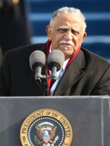 The Rev. Dr. Joseph E. Lowery delivers the benediction at the end of the swearing-in ceremony at the U.S. Capitol, Tuesday, Jan. 20, 2009. – Photo: Ron Edmonds, AP