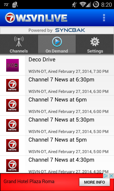 WSVN Live app On Demand