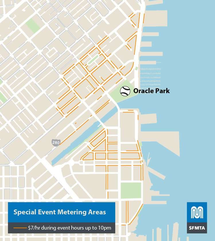 Oracle Park Event Pricing  Evening Metering SFMTA