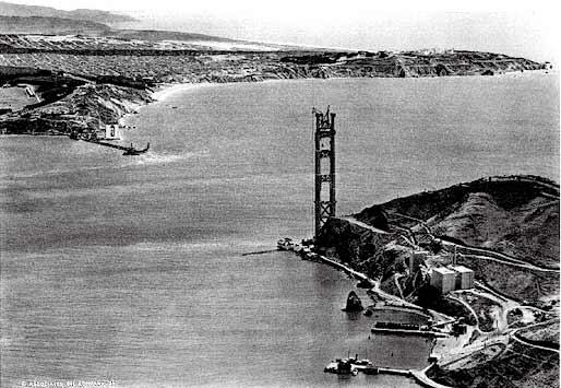 Golden Gate Bridge Construction - 1934