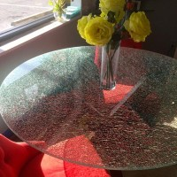 Shattered Glass Top Coffee Table