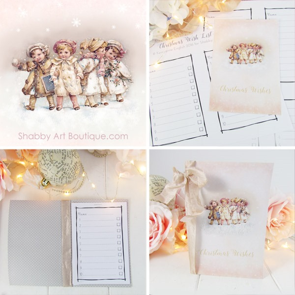 Quick DIY - Christmas Wish List and Folder - Shabby Art Boutique - christmas wish list paper