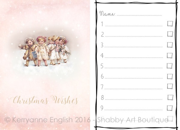 Quick DIY - Christmas Wish List and Folder - Shabby Art Boutique