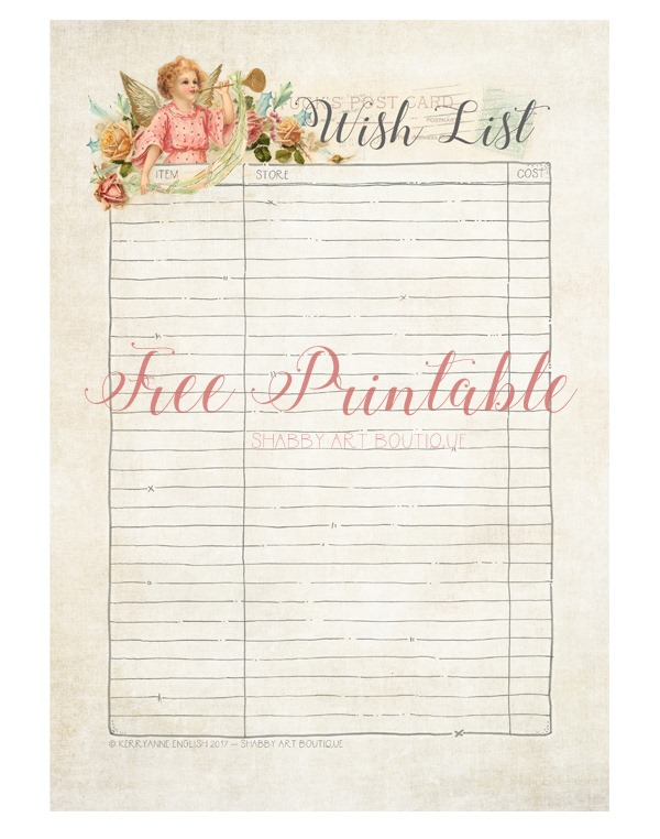 The Wish List - Shabby Art Boutique