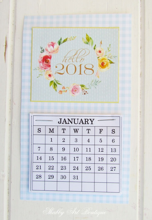 2018 Mini Calendars - Shabby Art Boutique