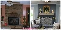 Chalk-Acrylic Painted Fireplace Brick - Shabby Paints