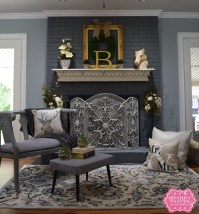 Painted Brick Fireplace Farmhouse Inspiration - Shabby Paints