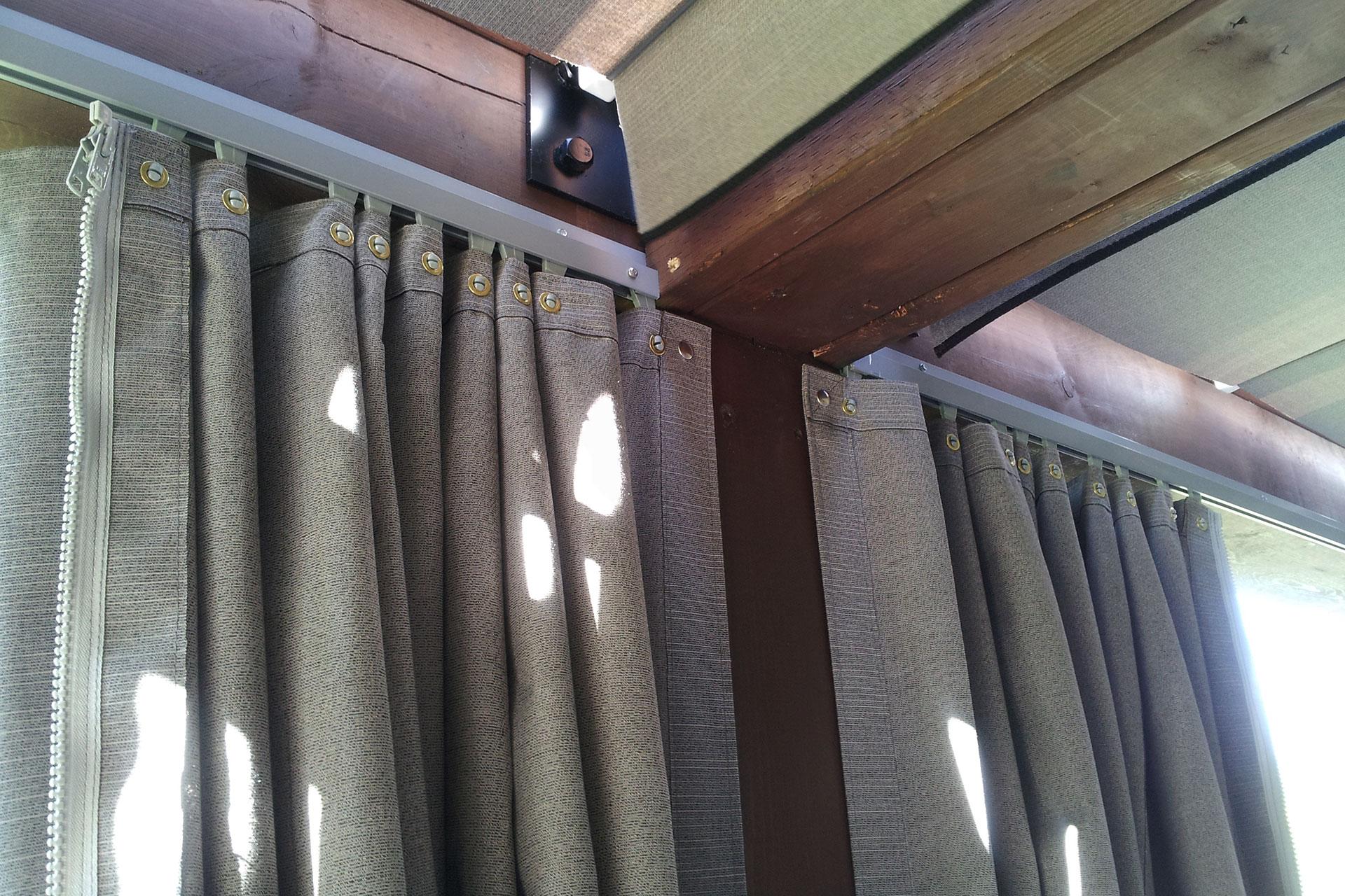 Outdoor curtains pergola - Outdoor Pergola Curtains