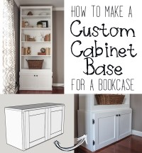 How to Build a Custom Cabinet Base for a Bookcase