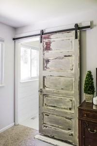 Master Bathroom Barn Door - Shades of Blue Interiors