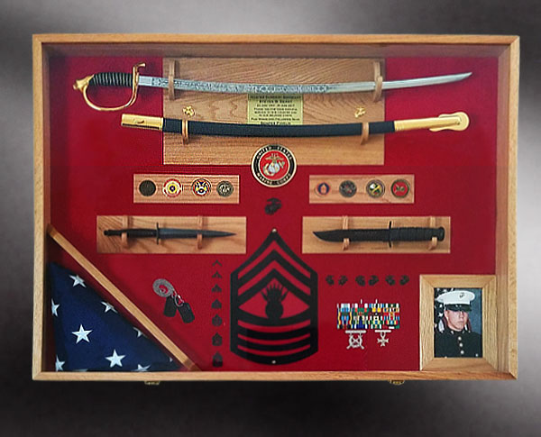 Custom Wood Shadow Boxes And Flag Display Cases