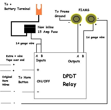 240z horn diagram