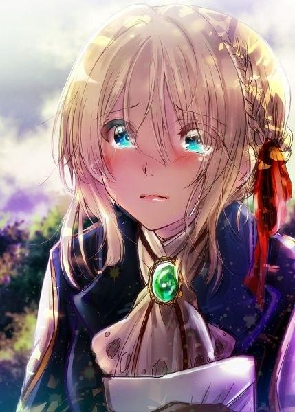Anime Girl Crying Wallpaper Violet Evergarden Shahiid Anime
