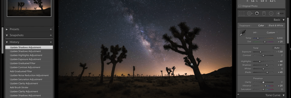 Lightroom Milky Way Tutorial