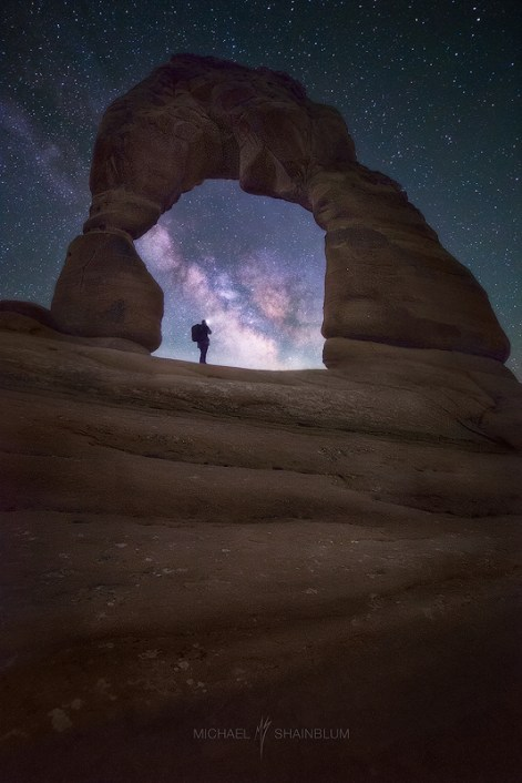 Delicate Arch Milky Way Night Sky