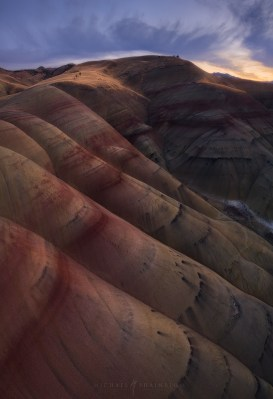 Oregon Aerial Painted Hills Desert