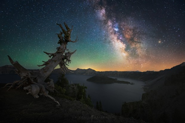 Milky Way Galaxy Tree Milky Way Crater Lake