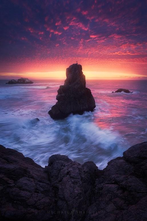 Lands End in San Francisco during sunset.