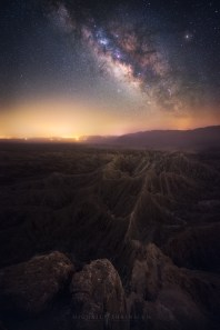 Milky Way Night Sky Desert Badlands