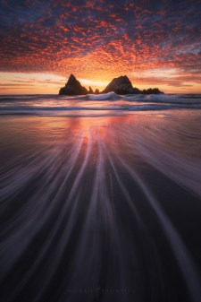 Sutro Baths San Francisco Beach Sunset.