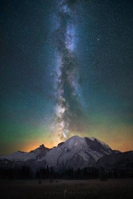 Milky Way Galaxy Mount Rainier
