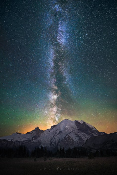 Milky Way Galaxy Mount Rainier