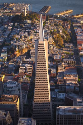 Transamerica San Francisco Aerial City Coit Tower
