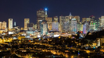 Transamerica Building San Francisco Night Skyline City
