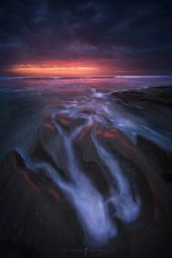 Ocean Waves San Diego Sunset