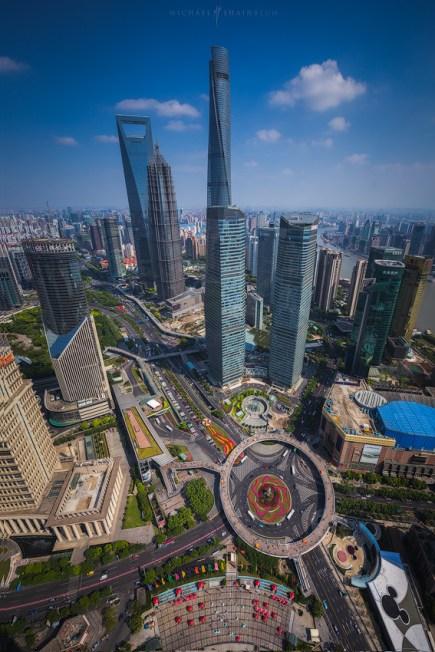 Shanghai China Pudong City Day