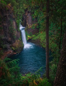 Toketee Falls Waterfall Oregon