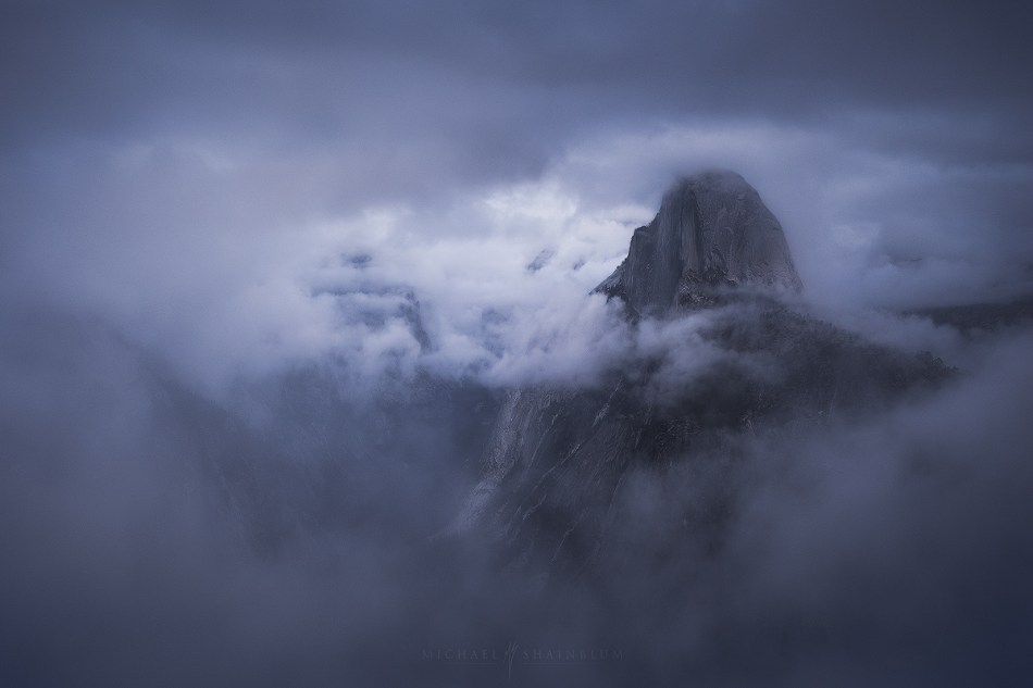 Yosemite Half Dome Storm Clouds Glacier Point