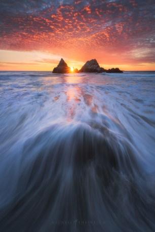 Sutro Baths, San Francisco Sunset.
