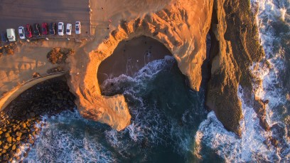 sunset cliffs san diego aerial photography