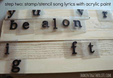 Two Letters For You Lyrics