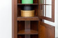 Small Corner Cabinet with Glass Door - Shaker Shoppe