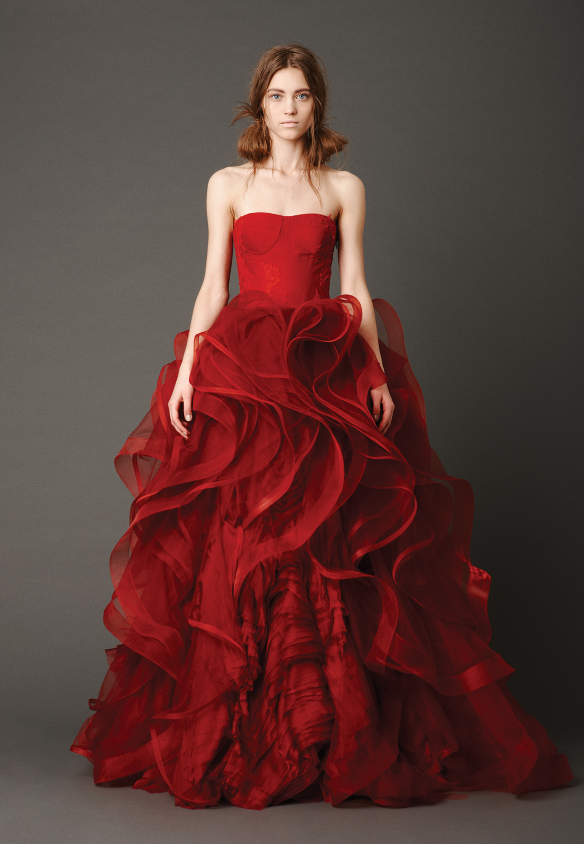 red dress to wedding red dress for wedding Trend Watch Wedding Dresses That Aren T White Shannon Gail Keeppy Red Wedding Dresses