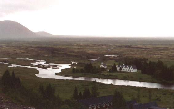 This is Þhingvellir, where the first parliament took place in 930 A.D. It is now a national park.