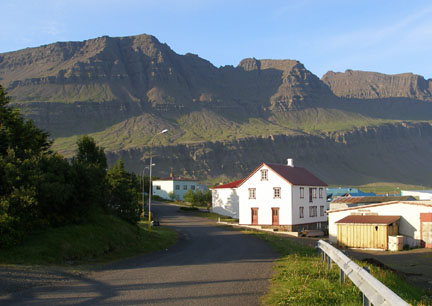 This tiny little fishing village, called Breiðdalsvík, is perched right on the sea.