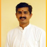 Acharya Manoj Dvivedi - teaches Sanskrit grammar in which he holds a Masters and PhD.