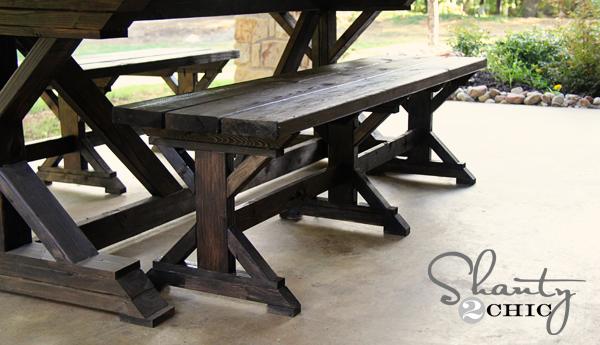 Diy Bench - Farmhouse Style - Shanty 2 Chic