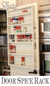 Pantry Ideas - DIY Door Spice Rack - Shanty 2 Chic