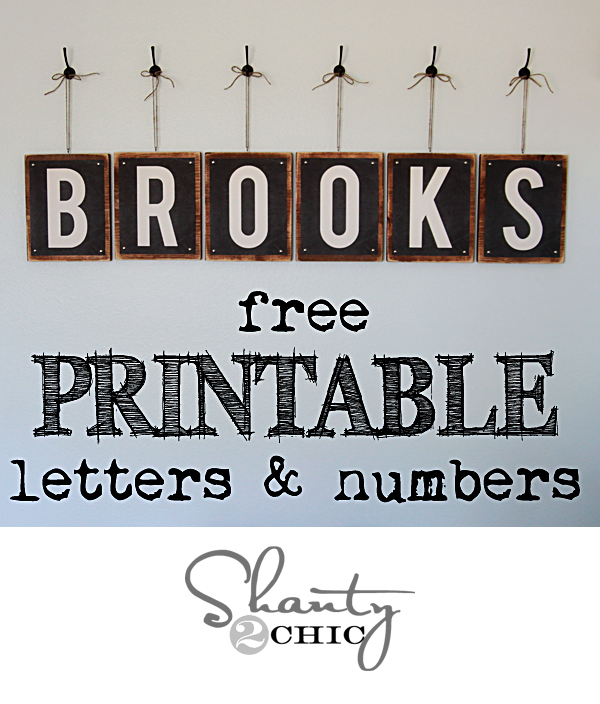Free Printable - Letters  Numbers - Shanty 2 Chic