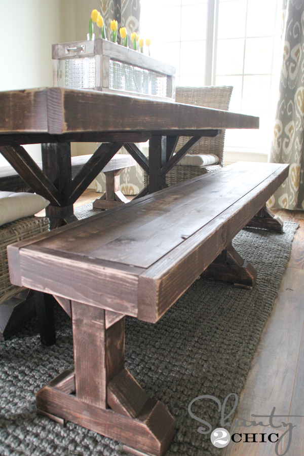 Diy Benches For My Dining Table - Shanty 2 Chic